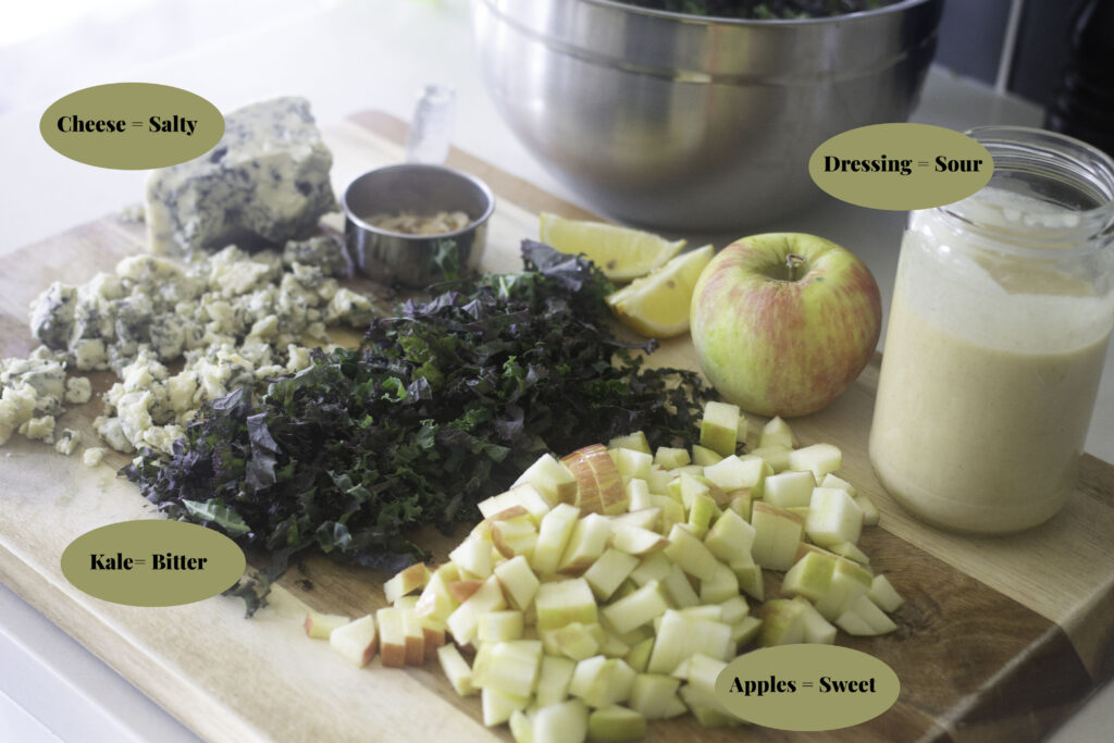 Kale salad ingredient ideas from Edible Times