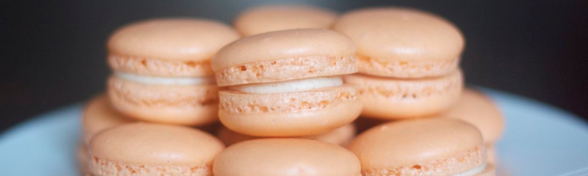 Orange creamsicle macarons by Edible Times Culinary Services, Boise, Idaho