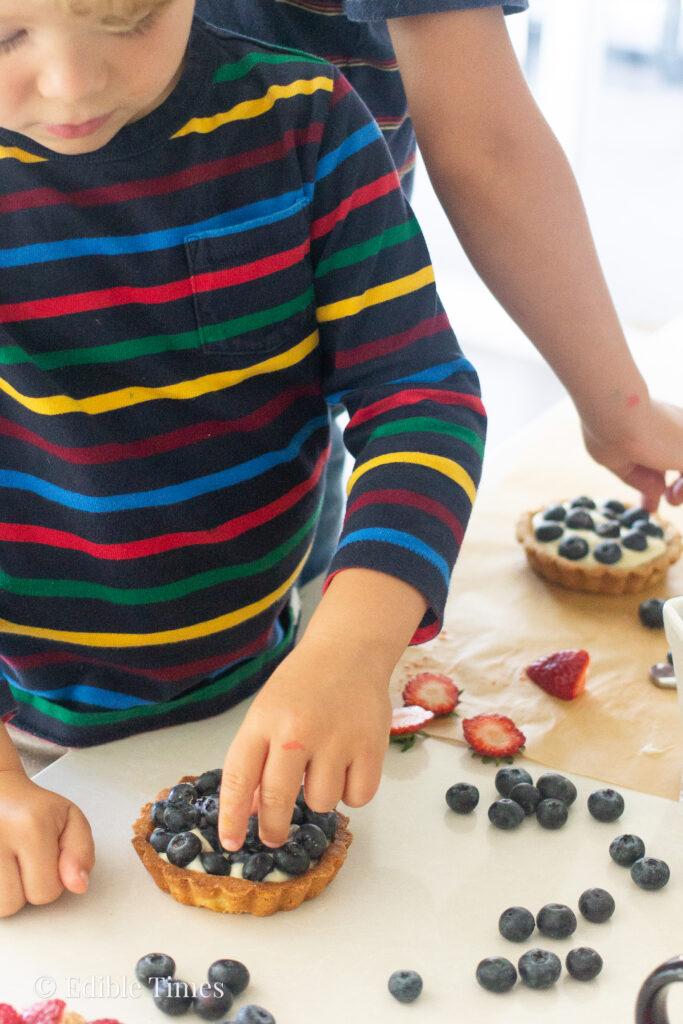 Fruit tart recipe from Edible Times