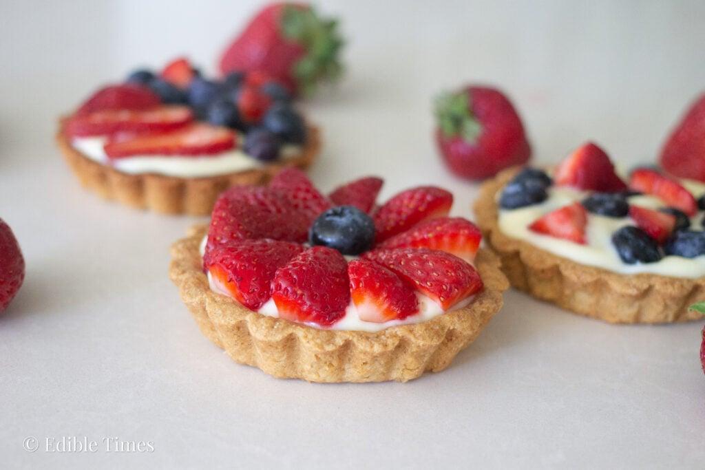 Fresh fruit tart from Edible Times