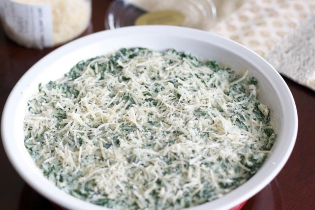 Then I top it with a healthy sprinkling of yes, more Parmesan.