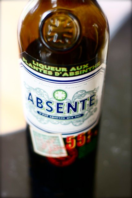 Bottle of absinthe.