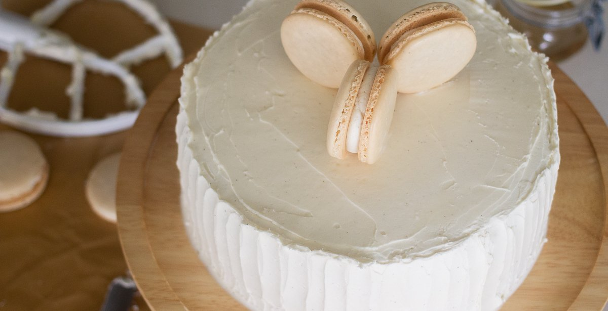 gluten-free vanilla bean cake by Edible Times Culinary Services
