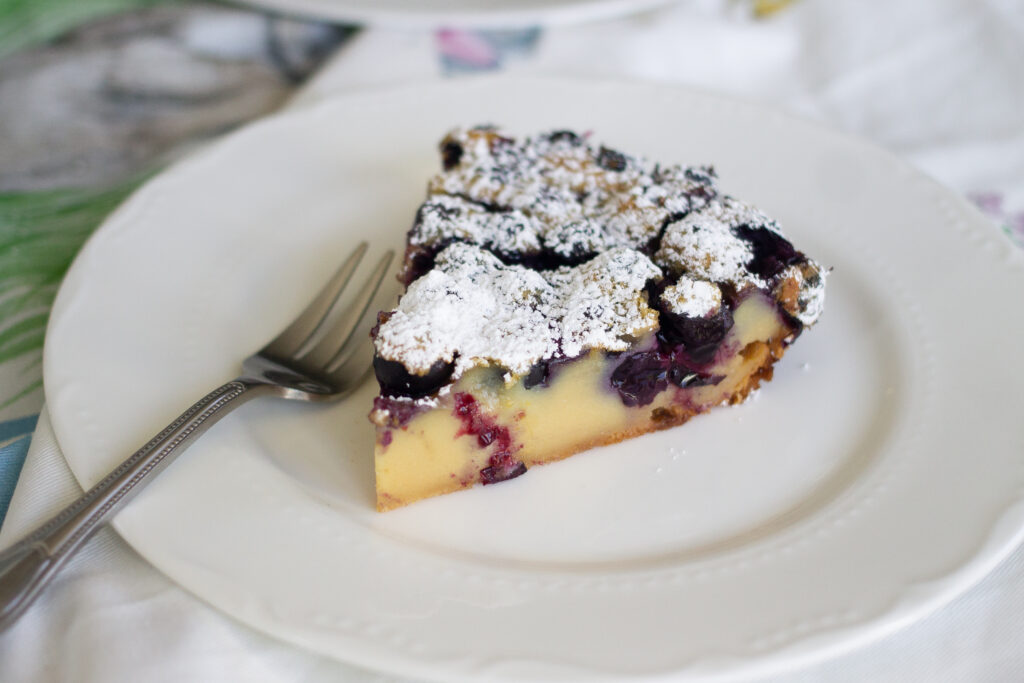 Honey Blueberry Clafoutis recipe from Edible Times