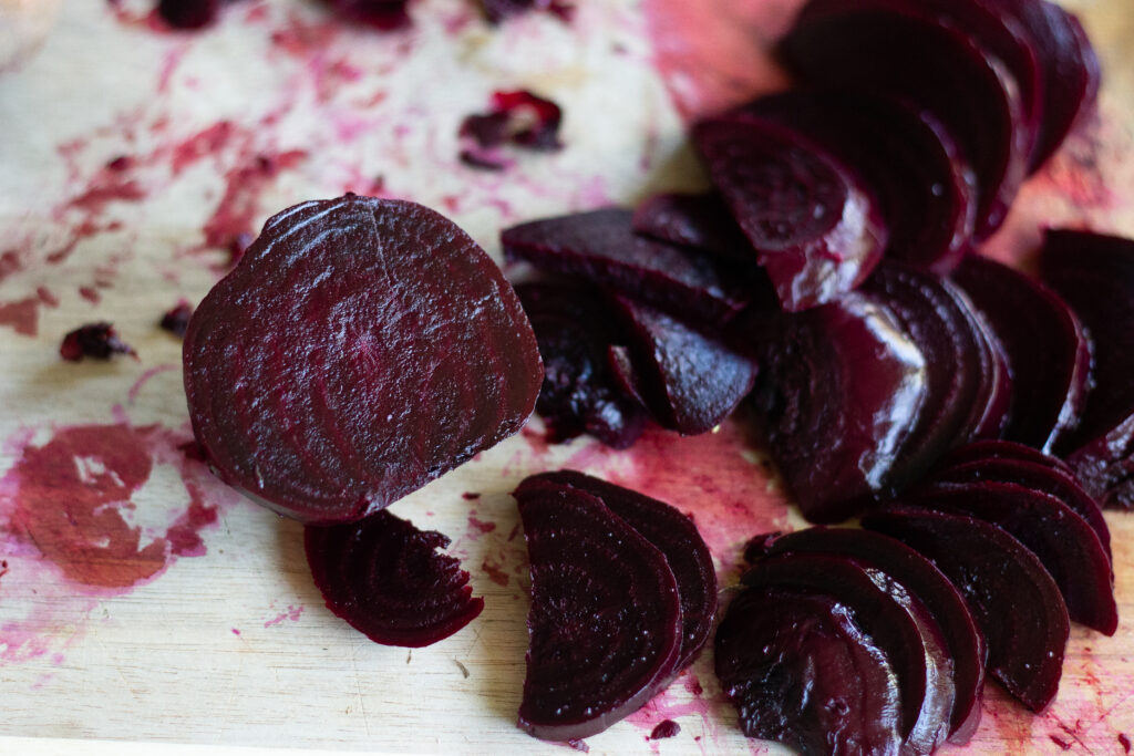 Steamed beets by Edible Times
