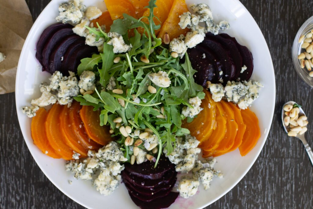 Beet salad with blue cheese from Edible Times