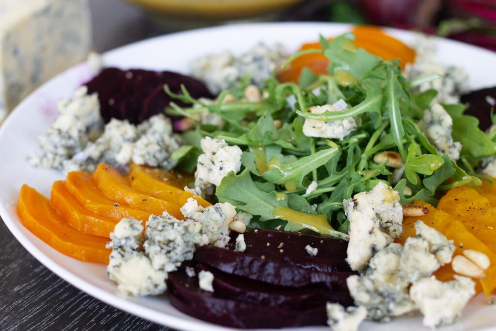 Beet salad with blue cheese by Edible Times
