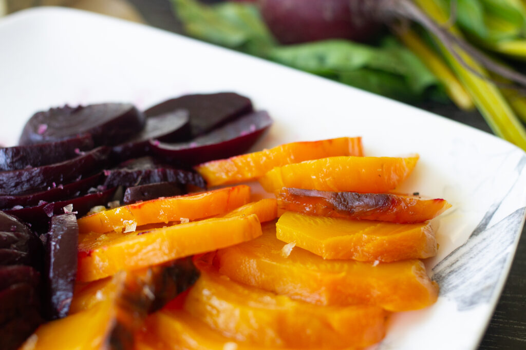 Roasted beets on a plate by Edible Times