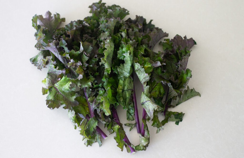 Red kale.