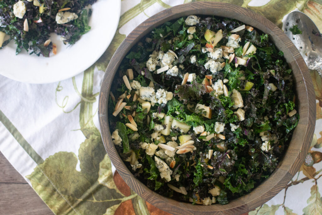 kale salad recipe from Edible Times