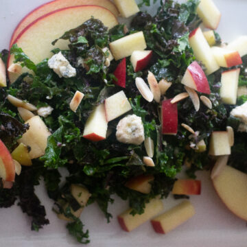 Kale salad with apple vinaigrette