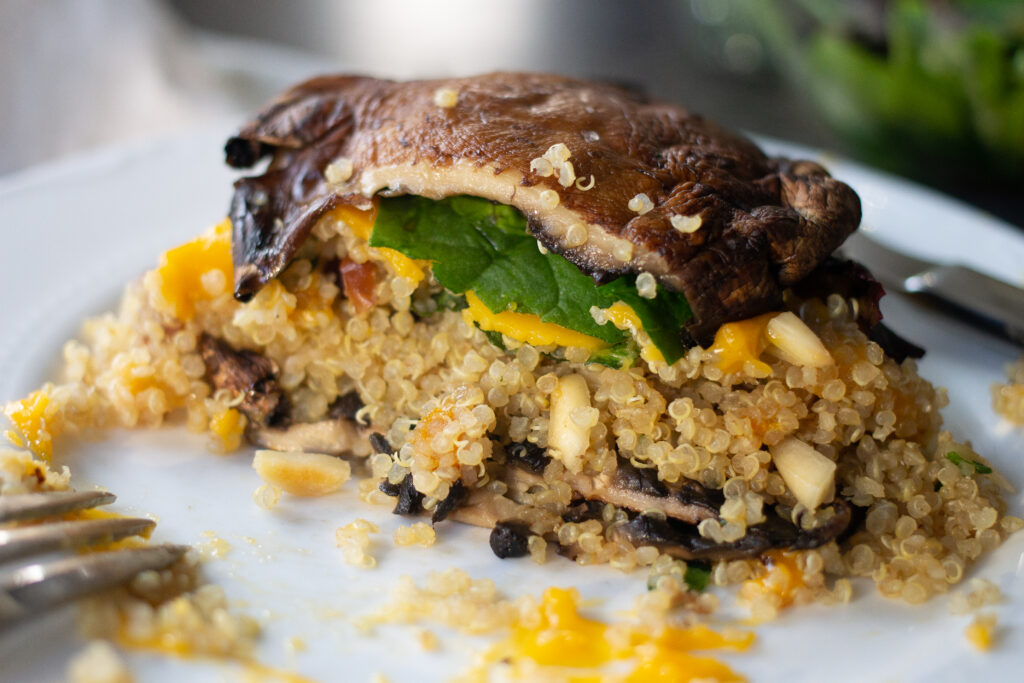 "portobello mushroom recipe for ""burgers"" from Edible Times"