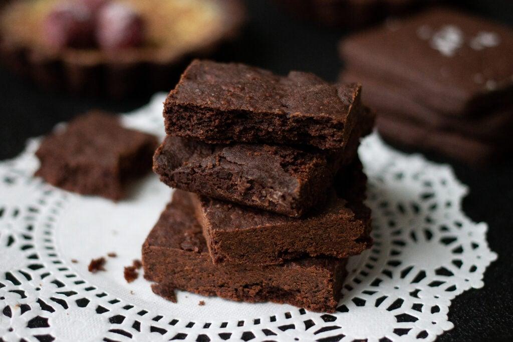 Chocolate shortbread cookies.