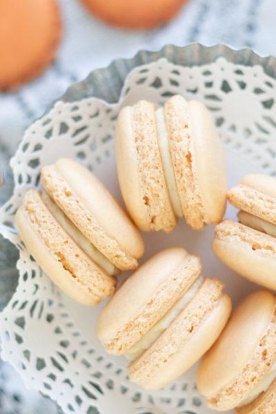 Orange creamsicle macarons.