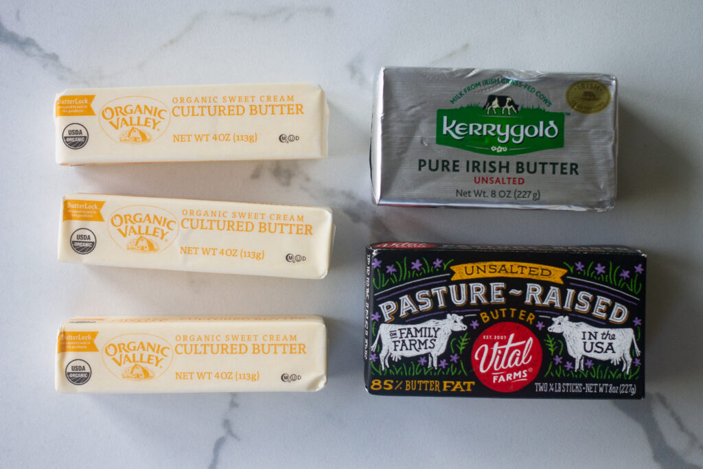 The best butter options for scrambled eggs.