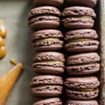 Chocolate Peanut Butter Cup Macarons