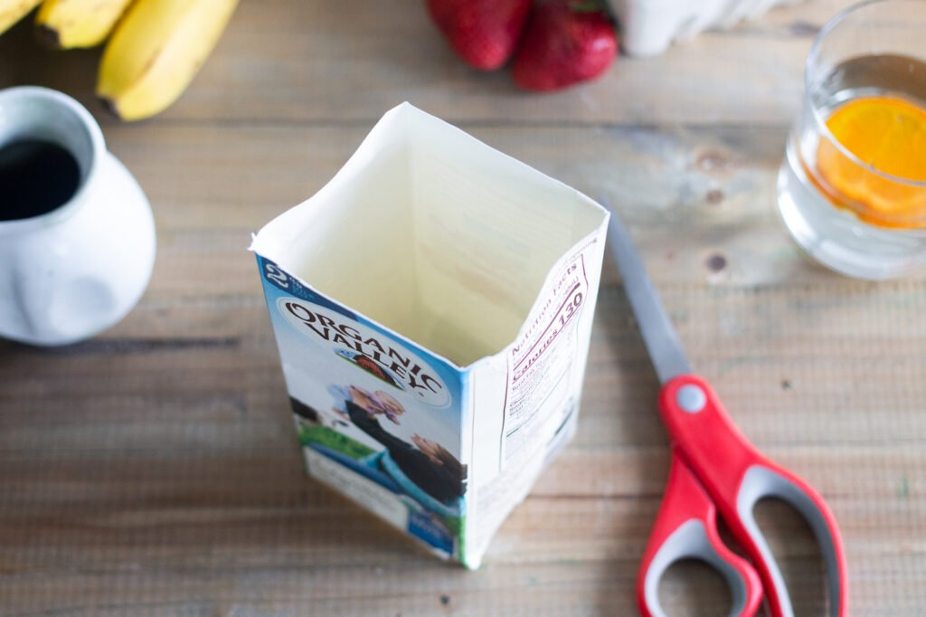 Japanese pancake mold hack: using a cardboard milk carton to cut molds.